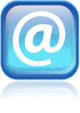 3D email icon with reflection