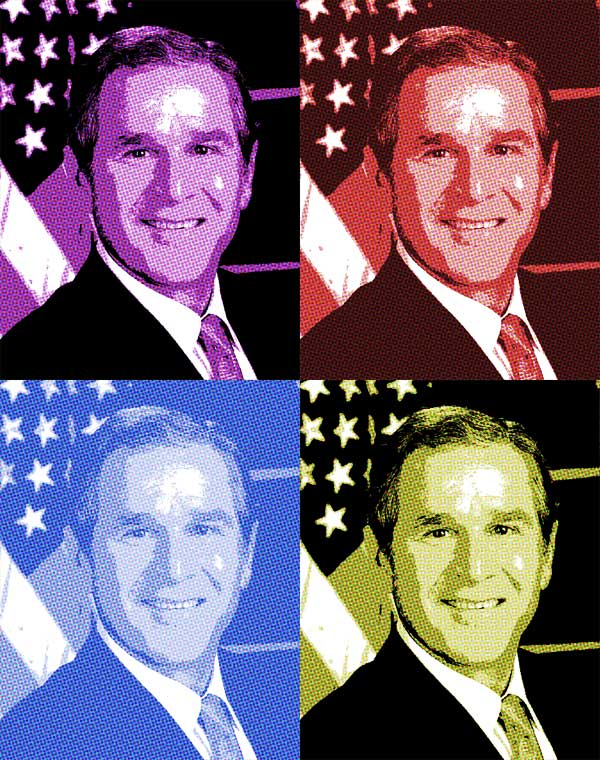 George W Bush pop art poster