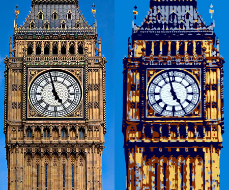 Big Ben, London photo and illustration
