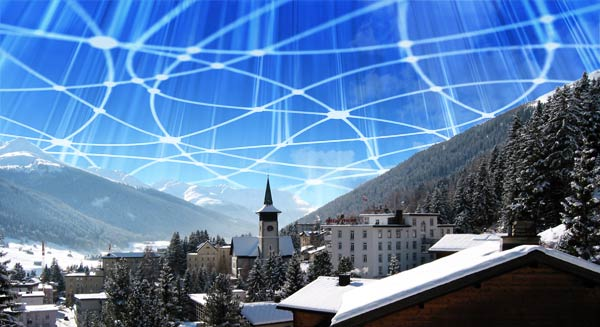 Davos with connections in sky