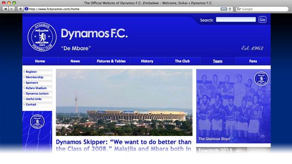 Dynamo's FC website