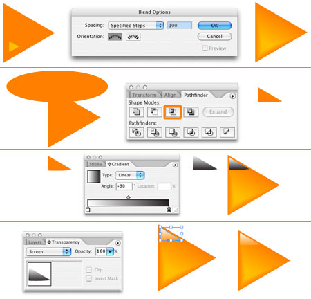 How to design shiny interface buttons in Illustrator