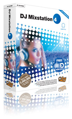 3d image of music creation dj software box packaging