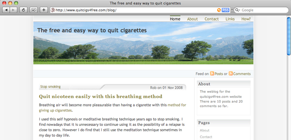 Blog at stop smoking website - the free and easy way to give up smoking
